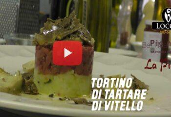 TORTINO DI TARTARE DI VITELLO ALL'EXTRAVERGINE AL LIMONE
